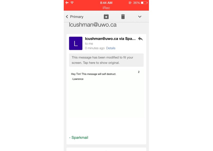 Sparkmail - Ephemeral Email – screenshot 2