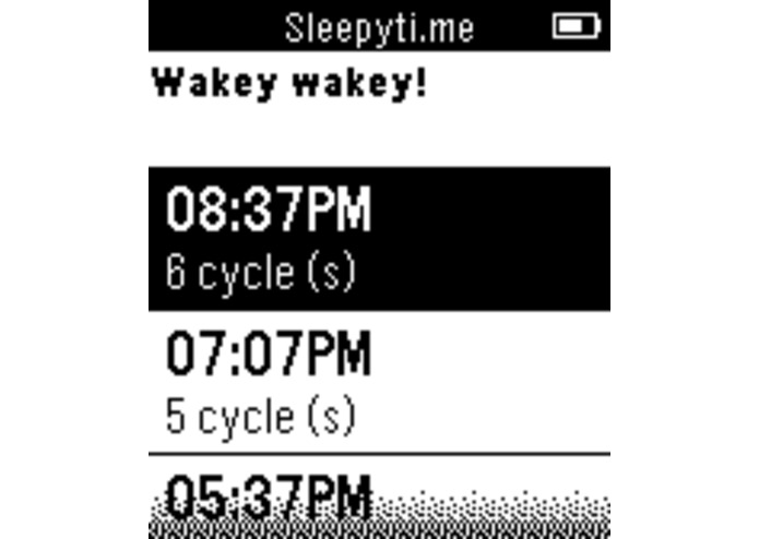 Sleepyti.me Pebble – screenshot 2