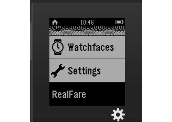 RealFare for Pebble – screenshot 1