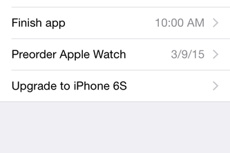 iOS Reminders – Redesigned