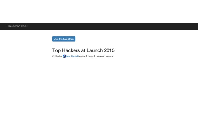 Hackathon Rank – screenshot 1
