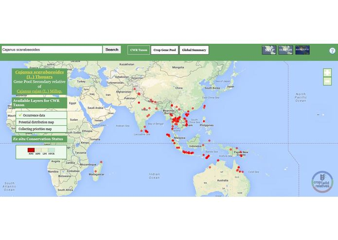The Crop Wild Relatives Global Atlas – screenshot 2