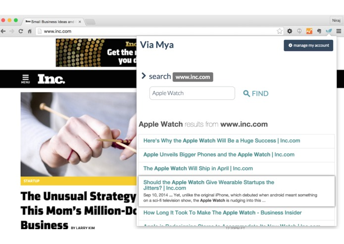 Mya's Extension for Chrome – screenshot 2