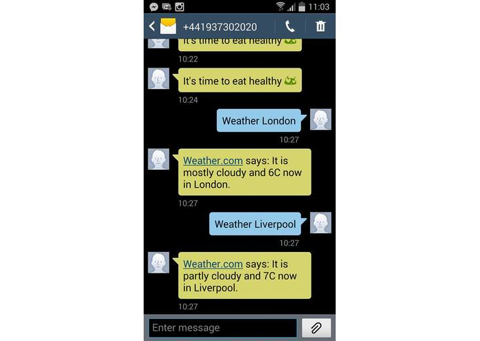 WeatherApp – screenshot 1