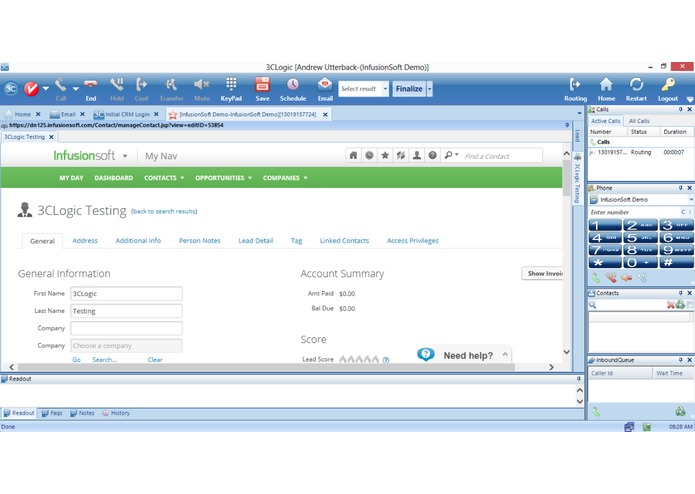 3CLogic Cloud Contact Center Solutions – screenshot 2