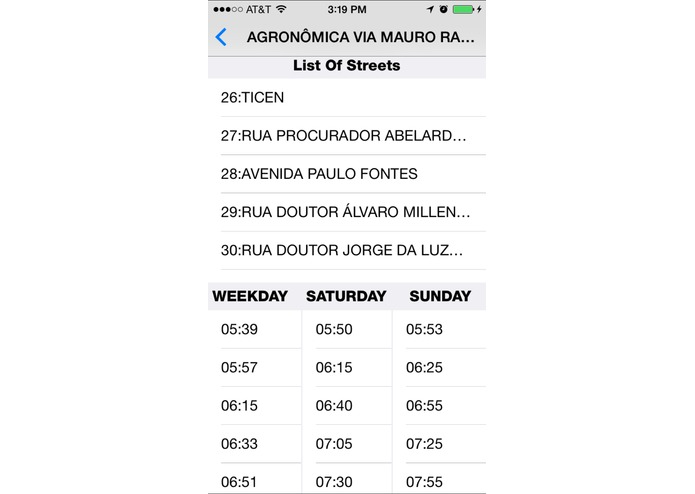 Florianópolis's public transportation – screenshot 1