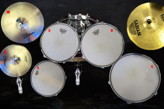 Leap Motion Drum Set