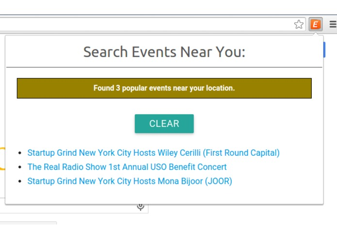 Event Finder – screenshot 1