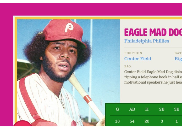 The Most Serious Baseball Card Generator – screenshot 2