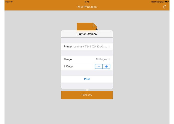 ThinPrint Mobile Print – screenshot 2