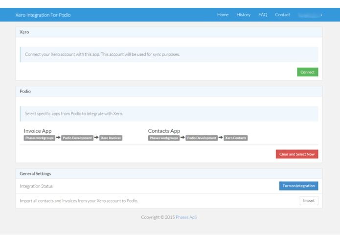 Xero Integration For Podio – screenshot 1