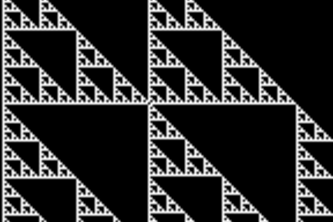 Pebble Sierpinski Triangle Sandbox