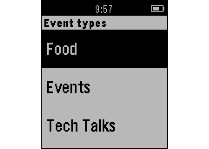 Pebble Hackawatch – screenshot 3