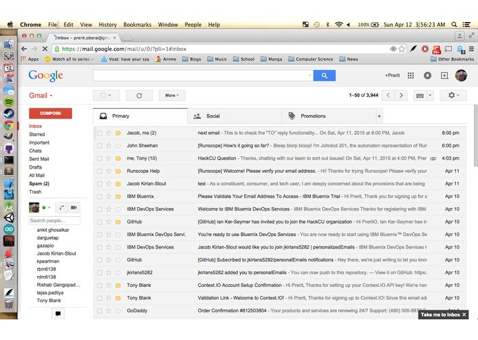 personalEmails – screenshot 5