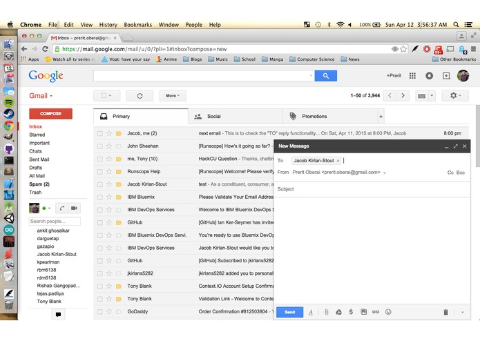 personalEmails – screenshot 4