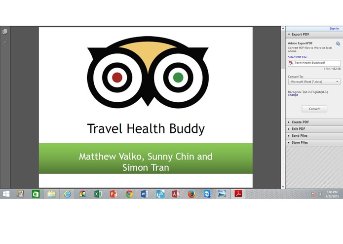 Travel HealthBuddy-Sunny Chin,Matthew Valko,Simon Tran – screenshot 1