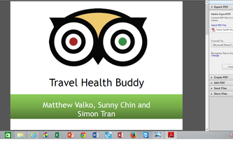 Travel Health Buddy - Sunny Chin, Matthew Valko, Simon Tran