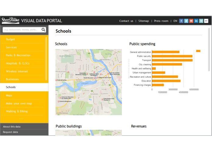 Sherbrooke For You - visual data portal – screenshot 5