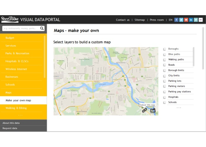 Sherbrooke For You - visual data portal – screenshot 4