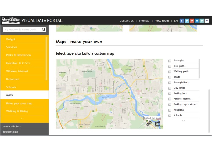 Sherbrooke For You - visual data portal – screenshot 3