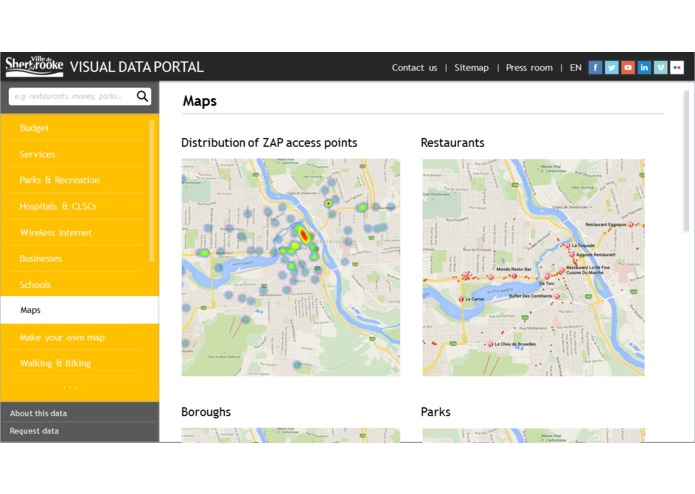 Sherbrooke For You - visual data portal – screenshot 1
