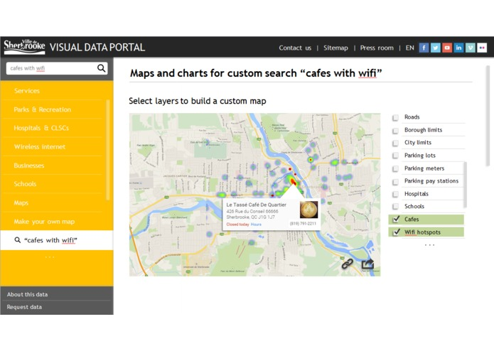 Sherbrooke For You - visual data portal – screenshot 2