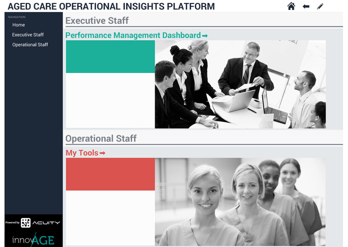 Aged Care Operational Insights Platform – screenshot 1