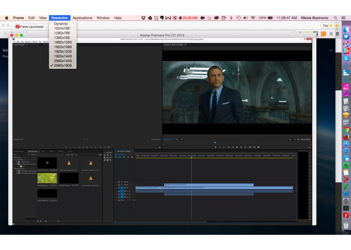 Frame: real-time 4K video editing in the cloud – screenshot 2