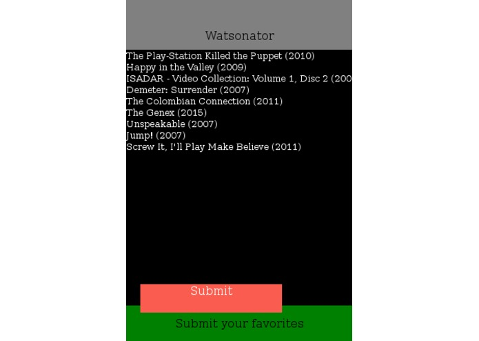 watsonator – screenshot 2