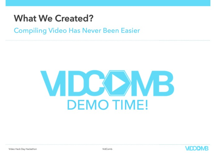 VidComb | Video Hack Day – screenshot 12