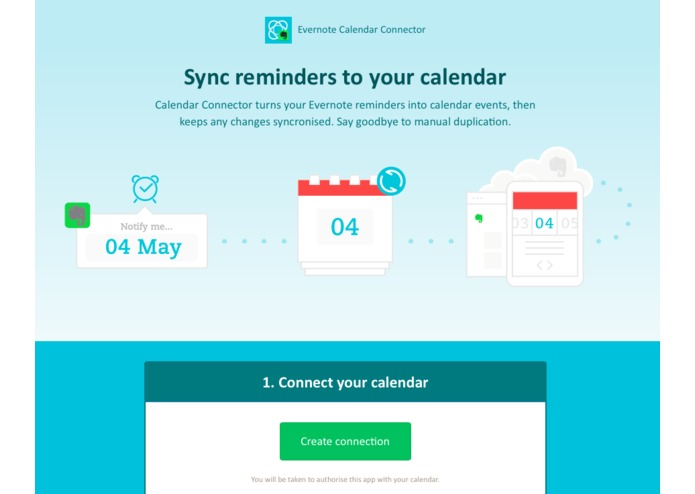 Evernote Calendar Connector – screenshot 1