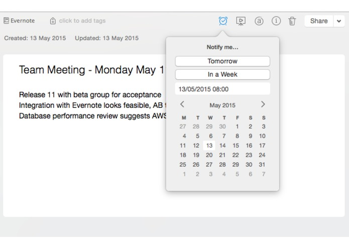 Evernote Calendar Connector – screenshot 2