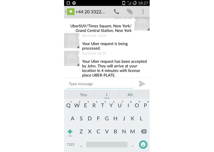 UberText – screenshot 2