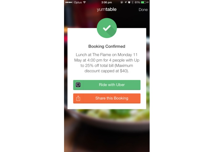 Yumtable - Restaurant Table Bookings (Now with Uber!) – screenshot 3