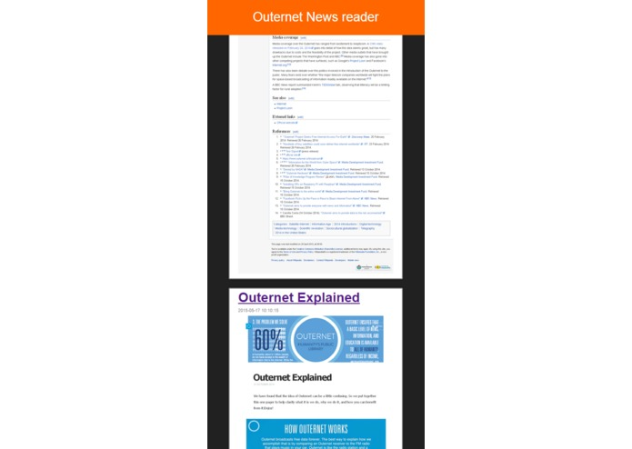 Any Article Content Delivery over Outernet – screenshot 1