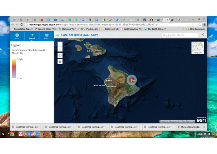 coral reef hotspot forecasting – screenshot 4