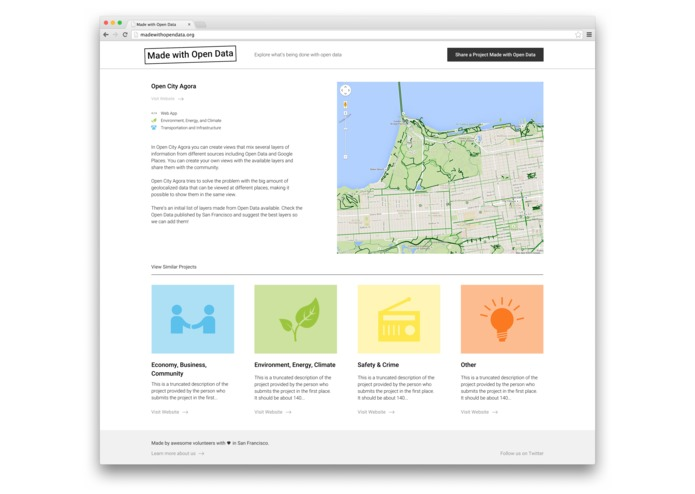 Made with Open Data – screenshot 2
