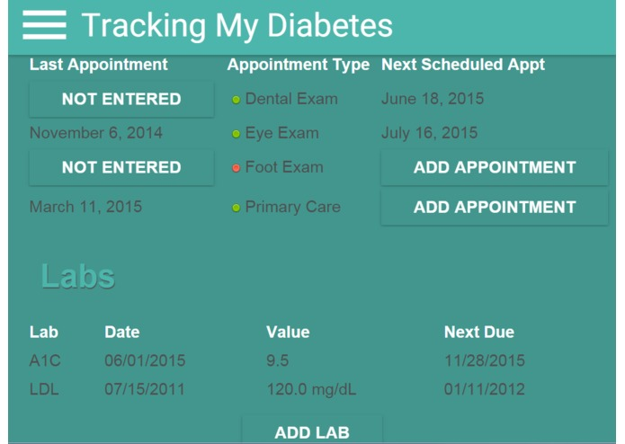 Tracking My Diabetes – screenshot 4