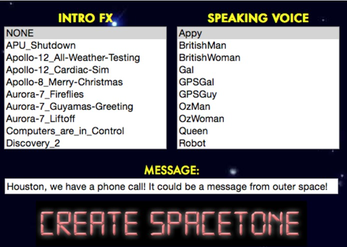 SpaceTones: Custom Talking Ringtones with NASA Sounds! – screenshot 2