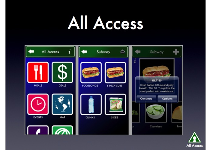 AllAccess.US Talking Menus and Spoken Orders – screenshot 5