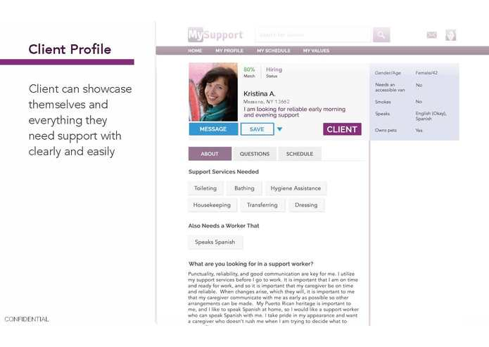MySupport - The Match.com of Homecare Support – screenshot 6