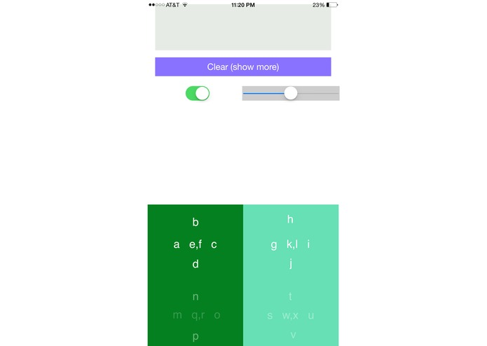 Gestype: A mobile keyboard for visually impaired and blind.  – screenshot 1