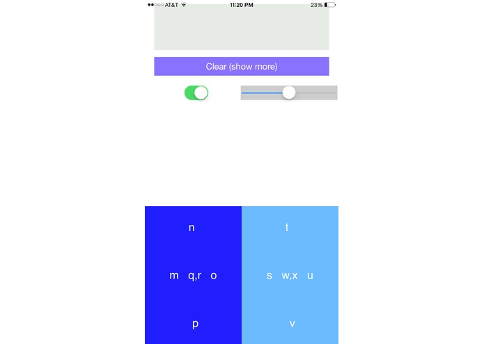 Gestype: A mobile keyboard for visually impaired and blind.  – screenshot 2