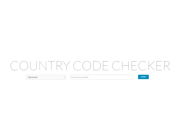 Country Code Checker – screenshot 1