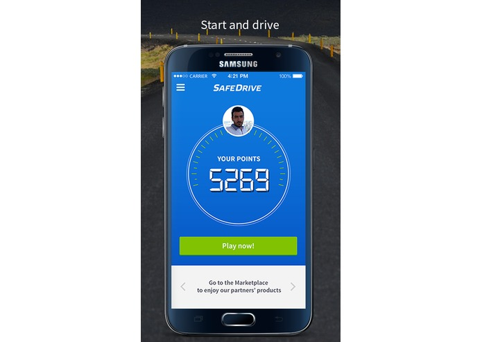 SafeDrive app rewards your good behavior while driving – screenshot 1