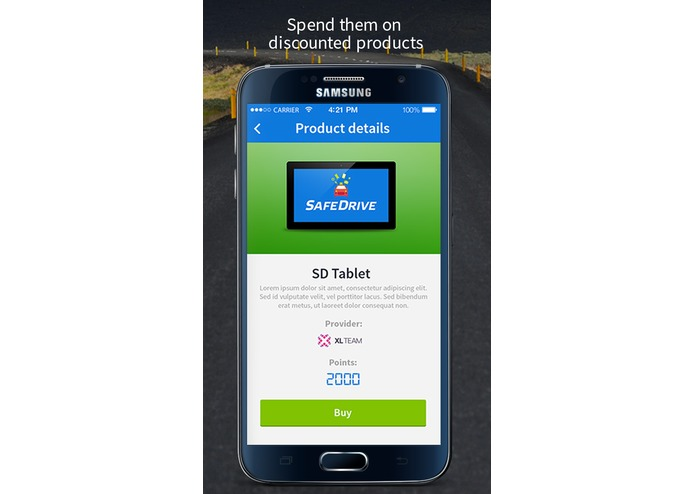 SafeDrive app rewards your good behavior while driving – screenshot 2