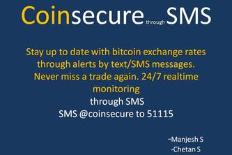 Coinsecure Through SMS