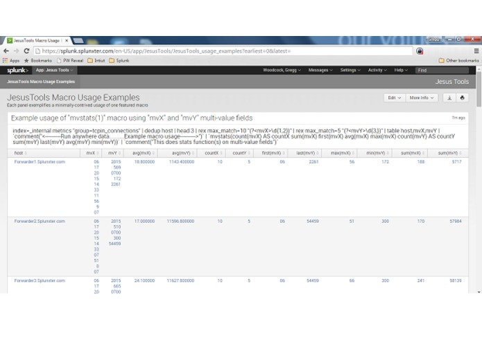 Splunk JesusTools – screenshot 2