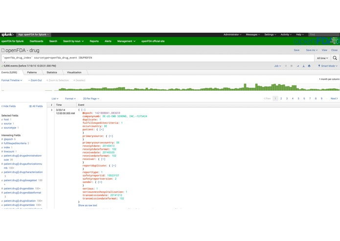 openFDA for Splunk – screenshot 4