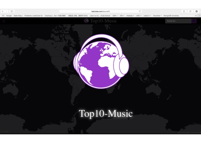 Top 10 popular music worldwide map  – screenshot 1